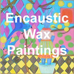 encaustic wax paintings
